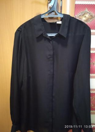 Блуза новая черная шифон bonprix размер 50/52 германия
