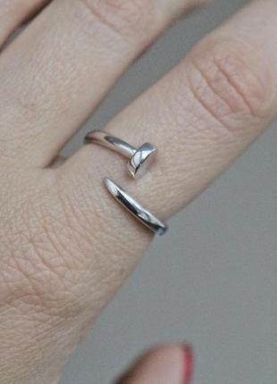 Серебряное кольцо гвоздь р.18-21