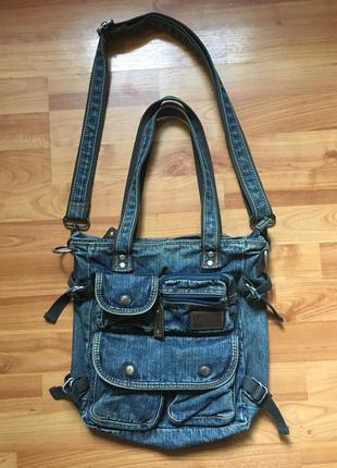 Джинсовая сумка, женская сумка через плечо