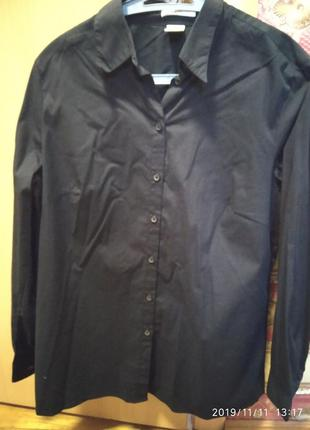 Блуза рубашка новая черная коттон  bonprix размер 50/52 германия
