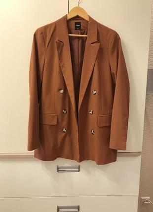 Пиджак жакет блейзер горчичного цвета