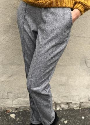 Новинка. тёплые брюки из шерсти.