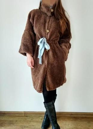 Шикарное теплое шерстяное пальто