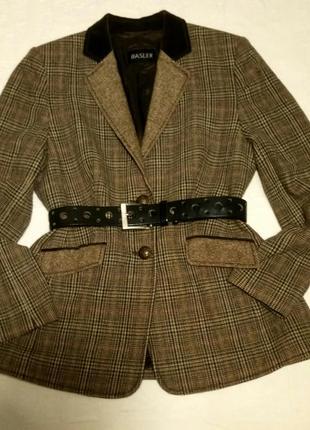 Трендовый шерстяной пиджак basler