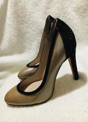 Шикарные натуральные туфли дорого бренда reiss