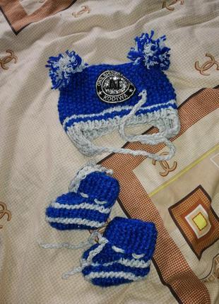 Комплект шапочка и чепики