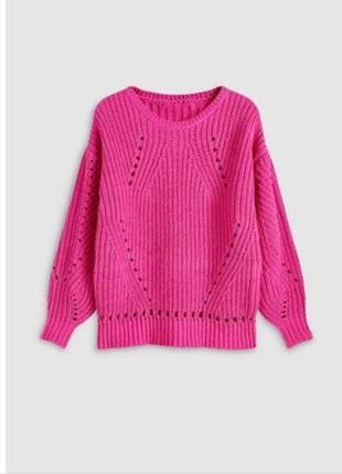 Трендовый тёплый свитер оверсайз пышный рукав джемпер oversized шеннил