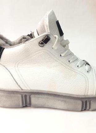 Зимние ботиночки из натуральной кожи.