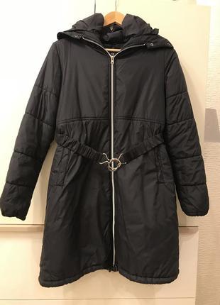 Пальто пуховик куртка удлиненная braska
