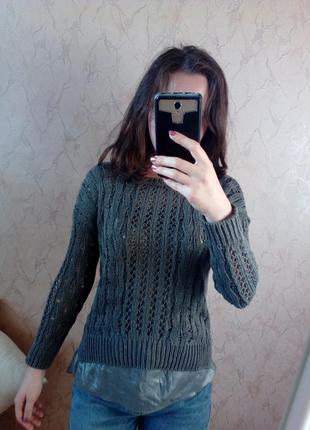 Серый свитер сірий светр