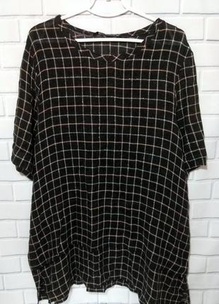 Шерстяная туника , короткое платье  oversize , блуза в клетку zara