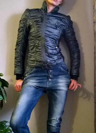 Распродаюсь♥стильная куртка косуха,  курточка демисезонная, металлик, итальянский бренд