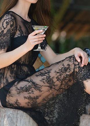 26 кружевное платье / прозрачный пеньюар / парео /сексуальное белье/ эротическое белье