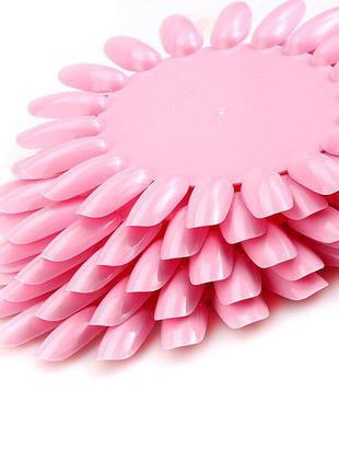 Ромашка дисплей палитра для демонстрации лаков и гель лаков розовая