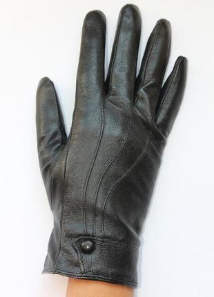 Перчатки натуральная кожа на меху