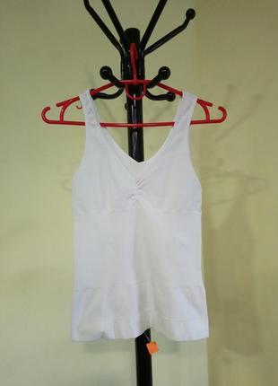 Эластичная бесшовная белая майка c&a lingerie