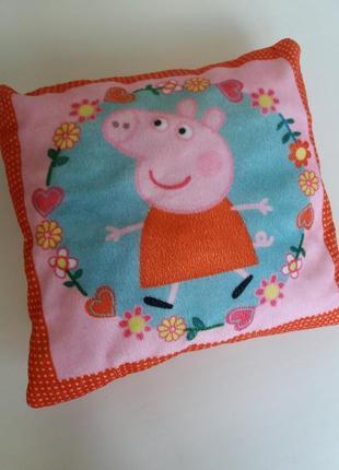 Детская подушка peppa декоративная подушечка пеппа