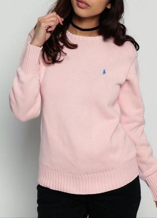 Классний розовий джемпер от ralph lauren