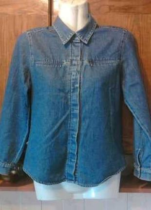Фирменная джинсовая рубашка esber