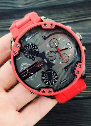 Чоловічій кварцевий годинник diesel червоний