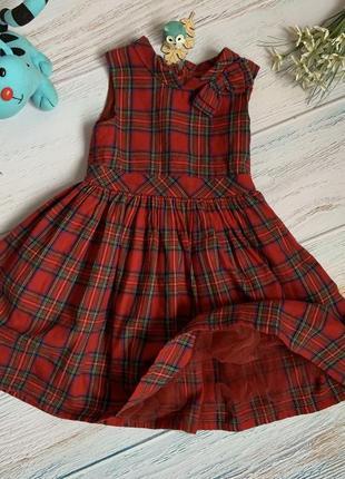 Фирменное нарядное платье девочке 2-3 лет состояние отличное