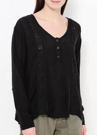 Р 12 / 46-48 volcom изумительная ажурная блуза блузка с кружевной отделкой этно бохо