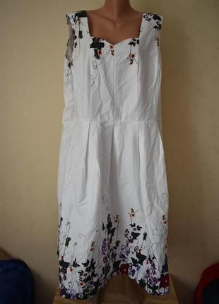Новое очень красивое платье с принтом большого размера joe browns