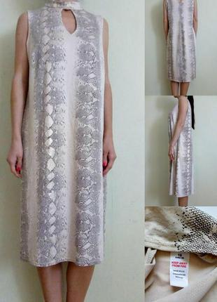 Платье в змеиный принт 16-18