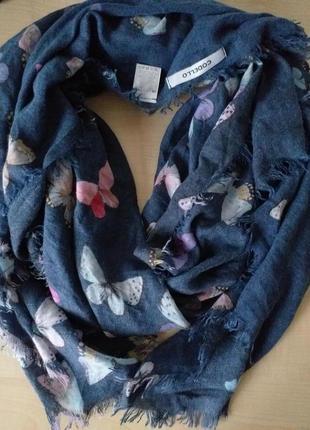 "Codello брендовый шарф принт ""бабочки"""