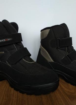 Термо-ботинки, с антискользящей подошвой,  everest, швеция.