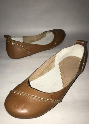 Сша! женские кожаные туфли- балетки hush puppies. размер 38. стелька 24