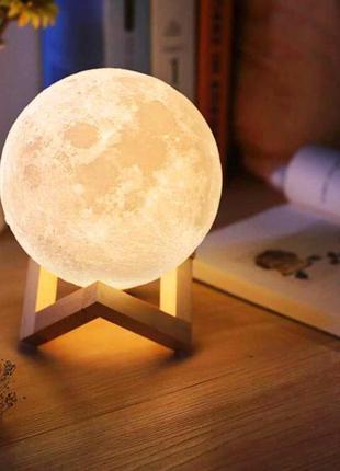 Ночник светильник луна 3d avvs tech moon. лампа луна 3d. ночная лампа. ночник