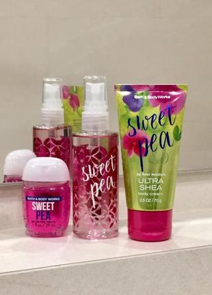 """Подарочный набор: парфюмированный крем, спрей и санитайзер """"sweet pear"""", сша"""