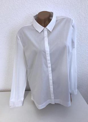 Стильная белая рубашка opus