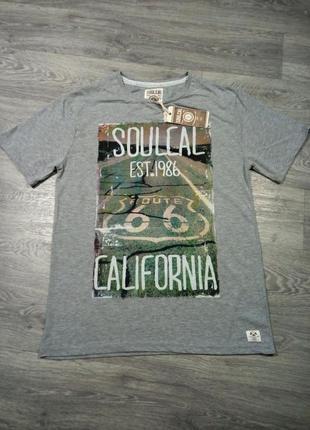 Футболка класным принтом soulcal california