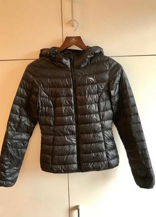 Женская демисезонная куртка с капюшоном anta пуховая размер xs