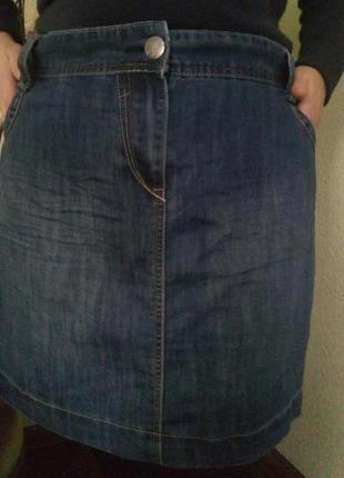 Джинсовая юбка карандаш большого размера