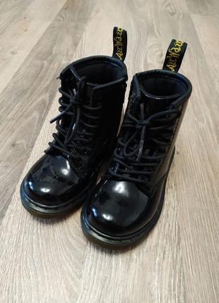 Кожаные лаковые ботинки