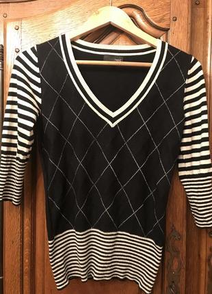 Блузка-кофта next в полоску,квадратик