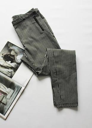 Классные брюки с кожаными вставками 12 л