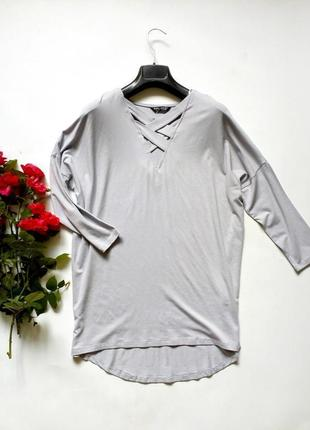 Трикотажный лонгслив, кофточка, блуза свободного кроя 10