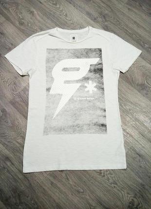 Белая футболка g-star raw