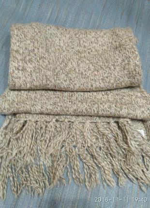 Шикарный теплый шерстяной шарф, натуральная шерсть two