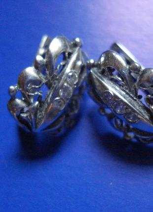 Очень красивые серебряные сережки, серьги, серебро 925 проба