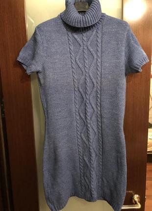 Шерстяное платье-туника flash
