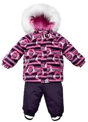 Зимний комплект (куртка + полукомбинезон) на девочку рост 92 см lenne