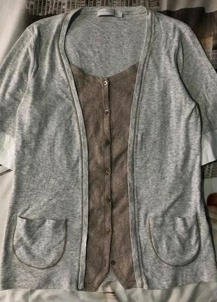 Кардиган fabiana filippi блуза на пуговицах brunello cucinelli x loro piana футболка