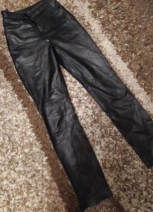Кожаные штаны 100%кожа мягкая лайковая итальянские