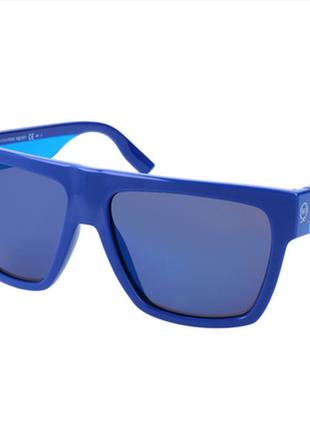 Новые крупные солнцезащитные очки alexander mcqueen синие унисекс