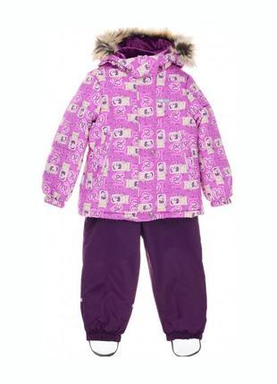 Зимний комплект (куртка + полукомбинезон) на девочку рост 98 см lenne